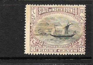 NORTH BORNEO  1897-02   8c  PICTORIAL    MH     SG 103