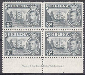 ST HELENA GVI 3d Imprint block of 4 mint...................................29201