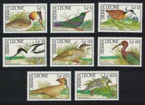 Sierra Leone Grebe Jacana Hoopoe Avocet Ibis Birds 8v SG#1475-1482