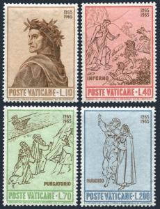 Vatican 410-413 blocks/4,MNH.Michel 477-480. Dante Alighieri,700,1965.Raphael.