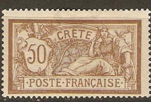 France Off Crete 12 Cer 12 MLH F/VF 1902 SCV $17.00