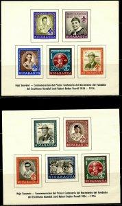 NICARAGUA Sc#782a, C386a 1957 Boy Scouts Souvenir Sheets OG Mint NH