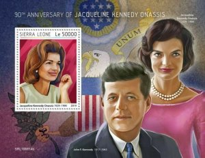 Z08 IMPERF SRL190614b SIERRA LEONE 2019 Jacqueline Kennedy Onassis MNH