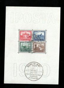 Germany #B33 Extra Fine Used Souvenir Sheet