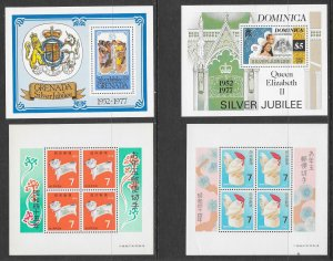 WORLDWIDE (120) All Different Souvenir SHeets ALL Mint Never Hinged