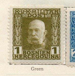 Bosnia Herzegovina 1912 Early Issue Fine Mint Hinged 1h. NW-113576