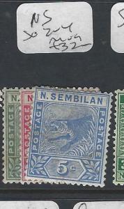 MALAYA NEGRI SEMBILAN  (P0502B)  1C-5C TIGER SG 2-4  MOG