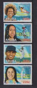 Aruba 2019 BASEBALL-CYCLING 4v + M/S MNH