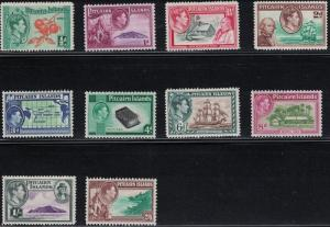 Pitcairn Islands SC1-8(10v)Ships-FamousPeople-Scenics-MixedTopicals-(H) 1940