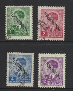 Serbia )( German Occ) x 4 used from the 1st 1941 set