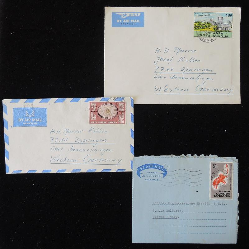 ZS-Y763 BRITISH KUT - Covers, 1967, Airmail To Germany, Great Lot Of 3