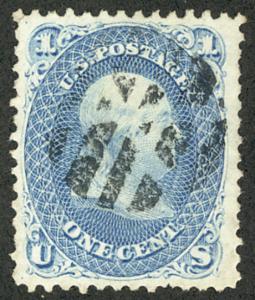 US #63 SCV $575.00 XF-SUPERB JUMBO, used, HUGE MARGINS, a super select stamp ...