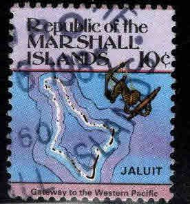 Marshall Islands Scott 38 Used 10c Map stamp