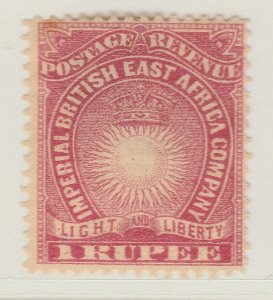British Colony East Africa KUT 1890 1r MH* Stamp A22P18F8912