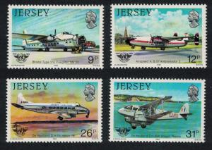 Jersey Aviation History 2nd series 40th Anniversary of ICAO 4v SG#340-343