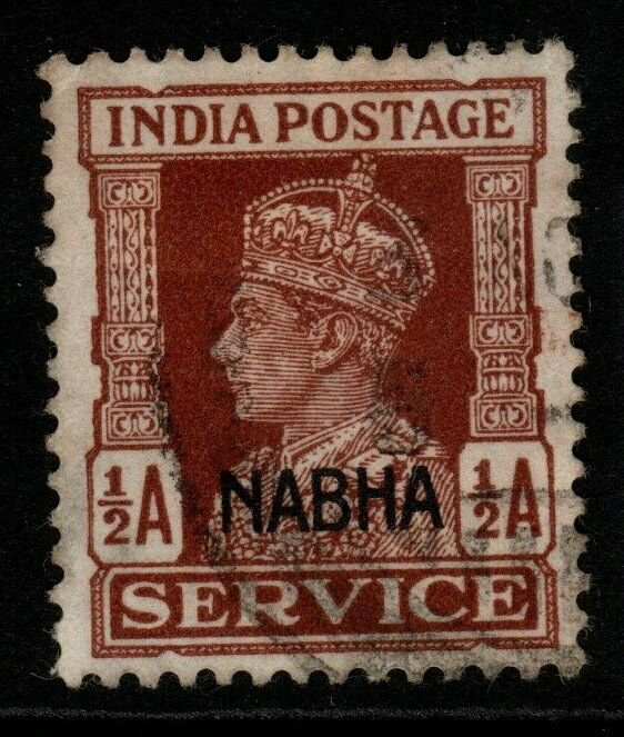 INDIA-NABHA SGO56 1942 ½a RED-BROWN USED