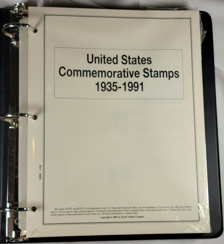 THE HERITAGE COLLECTION, UNITED STATES COMMEMORATIVE STAMPS 1935-1991