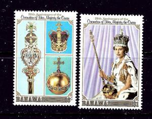 Bahamas 424-25 MNH 1978 QEII Silver Jubilee  #2
