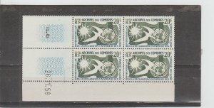 Comoro Islands  Scott#  44  MNH  Block of 4  (1958 Human Rights)