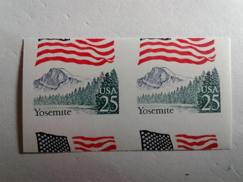 SCOTT # 2280 AMAZING-NIFTY YOSEMITE IMPERF AND MISCUT BEAUTY MINT NEVER HINGED !