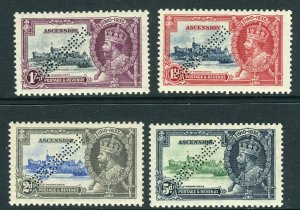 ASCENSION-1935 Silver Jubilee PERFORATED SPECIMENS lightly mounted mint Sg