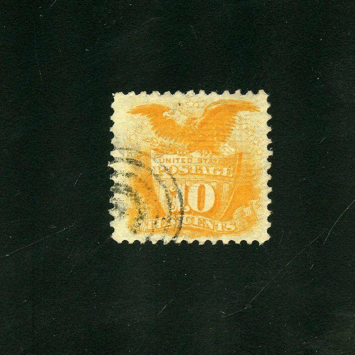 UNITED STATES  10c SHIELD &  EAGLE   SCOTT#116  XF+   USED ---SCOTT $110.00