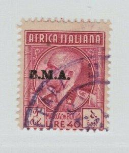 UK Italy Eritrea Ethiopia Africa fiscal revenue Stamp 5-4-21- BMA op 40L