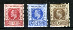 CAYMAN ISLANDS King Edward VII 1902-3 Definitive Part Set SG 4 to SG 6 MINT