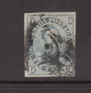 Canada #5b Used Greenish Grey Shade **With Certificate**