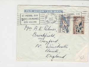 French Republic 1953 Airmail Machine Slogan Martinique Cancel Stamps CoverR18049