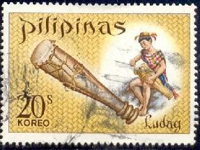 Drum Ludag Philippine Musical Instrument, Philippines SC#997
