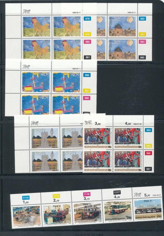 South Africa Bophuthatswana 1989/90 HousesArt Blocks MNH (56 Stamps) LP33