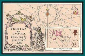 Tristan da Cunha 1981 Early Maps, MS, MNH 293,SGMS307