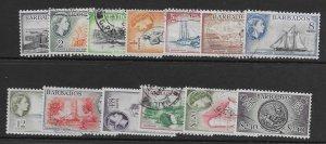 Barbados 235-47  1953 set  13   Used
