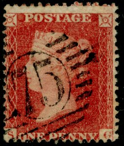 SG40, 1d rose-red PLATE 52, LC14, FINE USED. Cat £18. SG