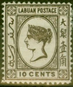 Labuan 1892 10c Brown SG43 Fine Mtd Mint