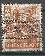 GERMANY, 1948, used 24pf, Overprint Scott 608