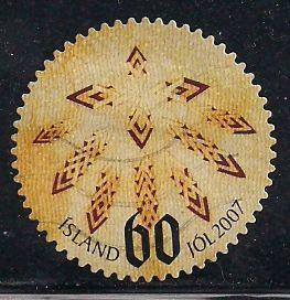 Iceland 1125 Used - Christmas - Patterns in Icelandic Leaf Bread