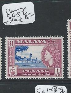 MALAYA PENANG (P0410B) QEII  SG52 MNH