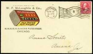 W.F. McLaughlin & Co. Coffee Advertising Cover Chicago Flag Cancel - Stuart Katz