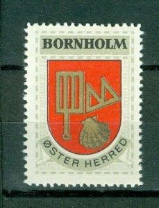 Denmark. Poster Stamp 1940/42. Mnh. District: Bornholm. Coats Of Arms.Shellfish,