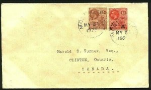 MONTSERRAT 1926 GV 1d & 1½ on cover to Canada..............................94773