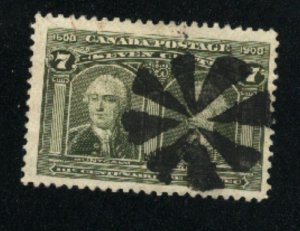 Canada #100  used  VF 1908   PD