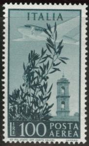 Italy Scott C123 MNH** 100 Lira airmail stamp 1948