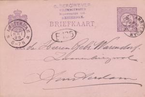 Netherlands 1896 G.Bergwever Amsterdam Postcard used VGC