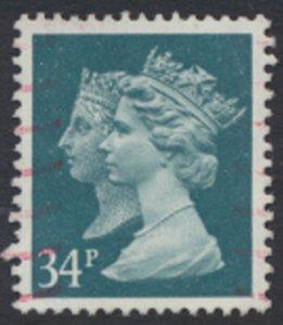 GB  SG 1473  SC# MH197 Machin double head 34p Used detail / scan