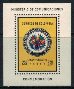 Colombia #744* NH  Souvenir sheet  CV $5.75