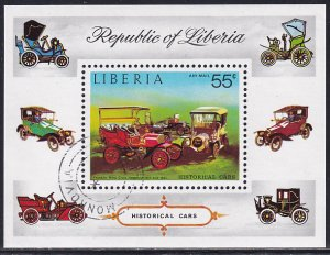 Liberia 1973 Sc C199 Historical Cars Franklin Automobile Airmail Stamp SS CTO NH
