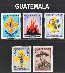 Guatemala Scott C328-32 complete set F to VF mint OG NH.