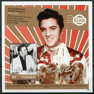 Tuvalu 2019 MNH Elvis Presley His Life in Stamps Music Celebrities 1v S/S I